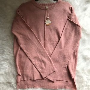NWT pink blush maternity sweater